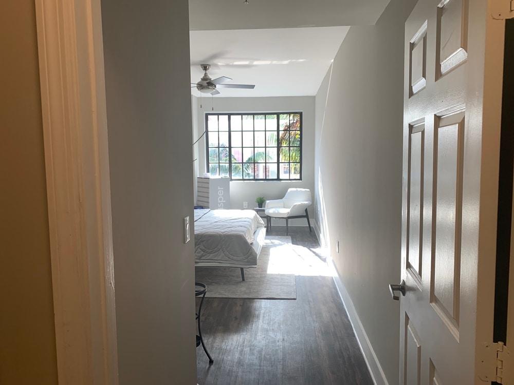 bedroom with casper mattress
