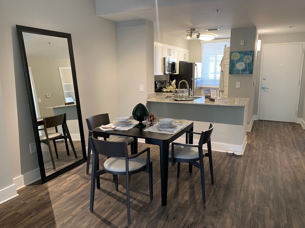 1 bedroom apartment kitchen and dining