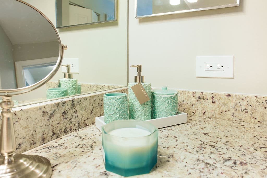 candle in bathroom