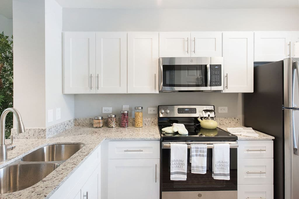 modern kitchen Apartments at Rosemary Square West Palm Beach