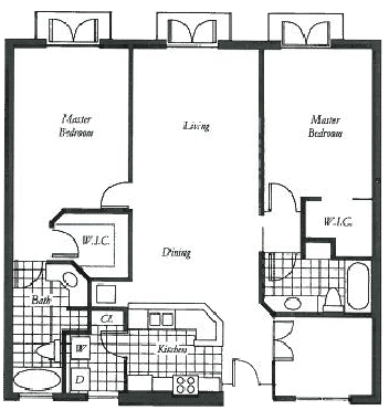 Clematis floor plan